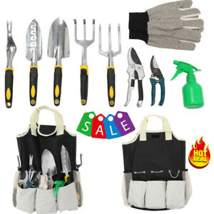 10pcs Garden Tools Set Gardening Kit Gifts Heavy Duty Hand Tool with Storage Bag