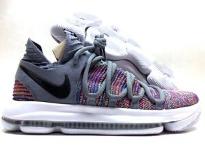 new concept 425c7 b5339 Image is loading NIKE-ZOOM-KD10-KEVIN-DURANT-MULTI-COLOR-BLACK-