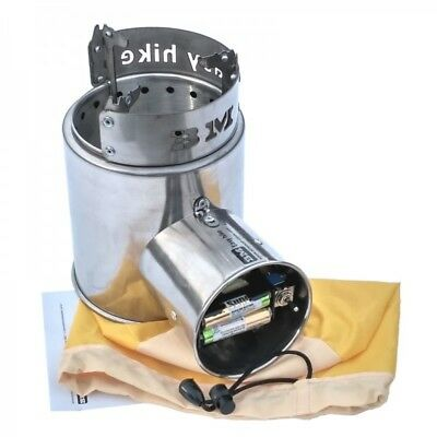 «Airwood Euro BM» portable solid fuel stove with forced air blower wood gas