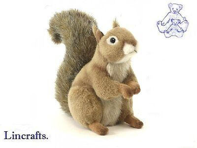Red Squirrel Sitting Plush Soft Toy by Hansa. Sold by Lincrafts. 3395
