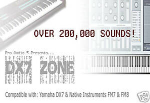 Details about YAMAHA DX7 ZONE CD - SYSEX Sound Patches + Software - Over  200,000 Patches