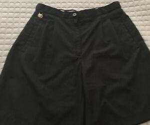 Liz-Golf-Womens-Black-Golf-Shorts-Size-Petite-10-Polyester-CoolMax