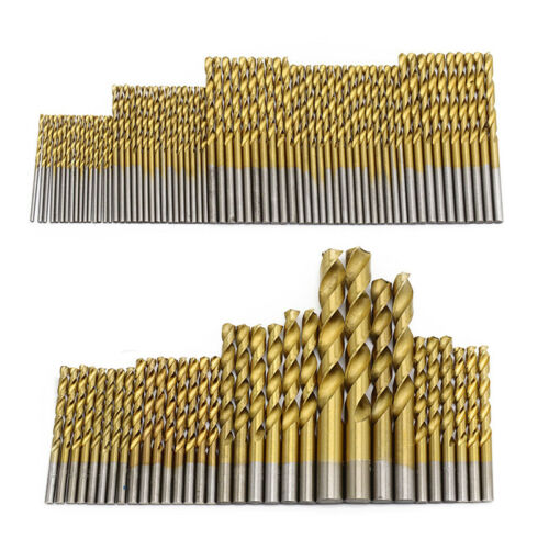 50//99PCS Titanium Coated High Speed Steel Twist Serratula Drill Bit Set Metric