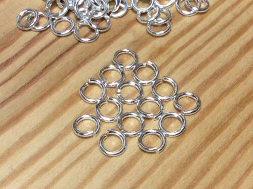 14  SOLID 925 STERLING SILVER HEAVY Open Jump Rings 3mm Jewellery Making Repair