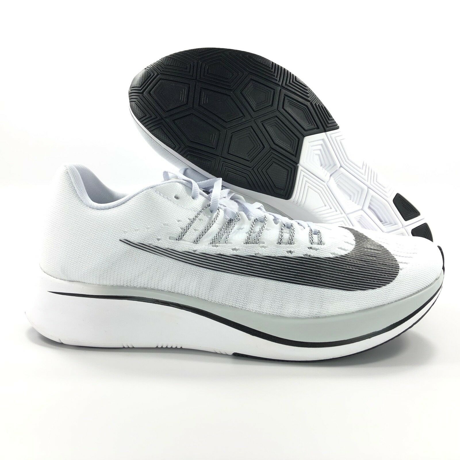 Nike Zoom Fly White Black Pure Platinum Grey Running shoes 880848-100 Men's 8-9.5