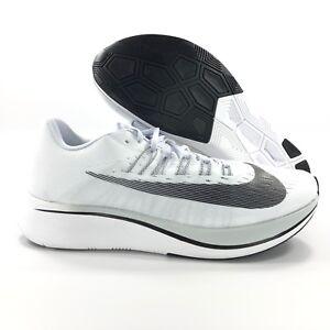 bfeb2015d5d8 Nike Zoom Fly White Black Platinum Grey Running Shoe 880848-100 ...