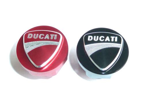 Bouchon de Remplissage d/'huile CNC Ducati Diavel 2011-2019 gravé avec logo rouge ou noir