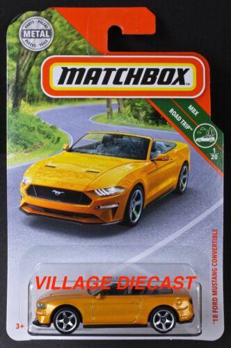 2019 Matchbox #4 /'18 Ford Mustang Convertible ORANGE FURY METALLIC MOC