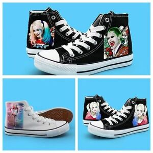 7406ece6819b Suicide Squad Harley Quinn Joker High Canvas Shoes Casual Sneakers ...