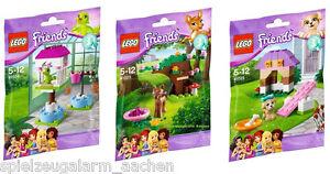 LEGO-FRIENDS-41023-Rehkitz-Wald-41024-Papageienhaeuschen-41025-Welpen-Hundehuette