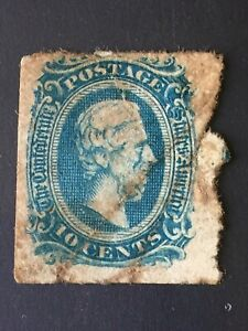 Confederate States of America US Scott #11 Jefferson Davis Stamp MNG