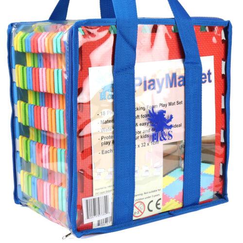 High Quality 18pcs 32x32cm Interlocking EVA Soft Foam Kids Play Mats Tiles Set