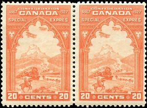 Mint-Canada-1927-Pair-20c-Scott-E3-Special-Delivery-Stamps-Never-Hinged