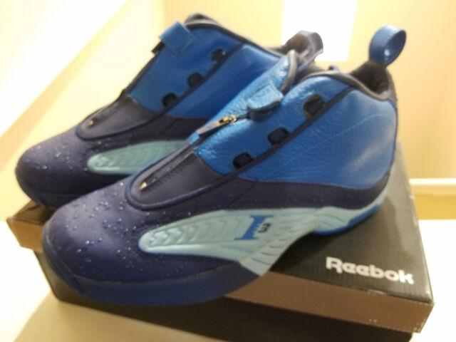 b8c88e1ca675 New Reebok Answer IV Blue   Pearl Allen Iverson Rain Drop V48518 Men s Size  10.5