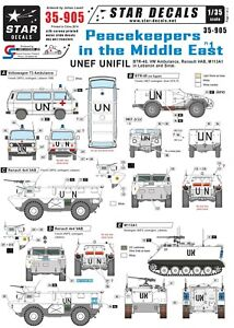 Star-Decals-1-35-Peacekeepers-Middle-East-BTR-40-VW-T3-bus-VAB-M113A1-35905