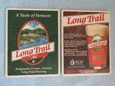 Vermont Beer Coaster ~ LONG TRAIL Brewery Bicentennial ~ Bridgewater Corners