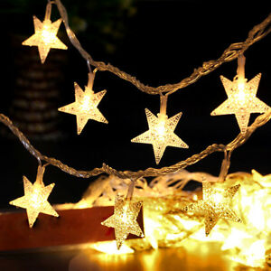 image is loading star 5m 50led fairy string lights outdoor christmas - Christmas Star Lights Outdoor