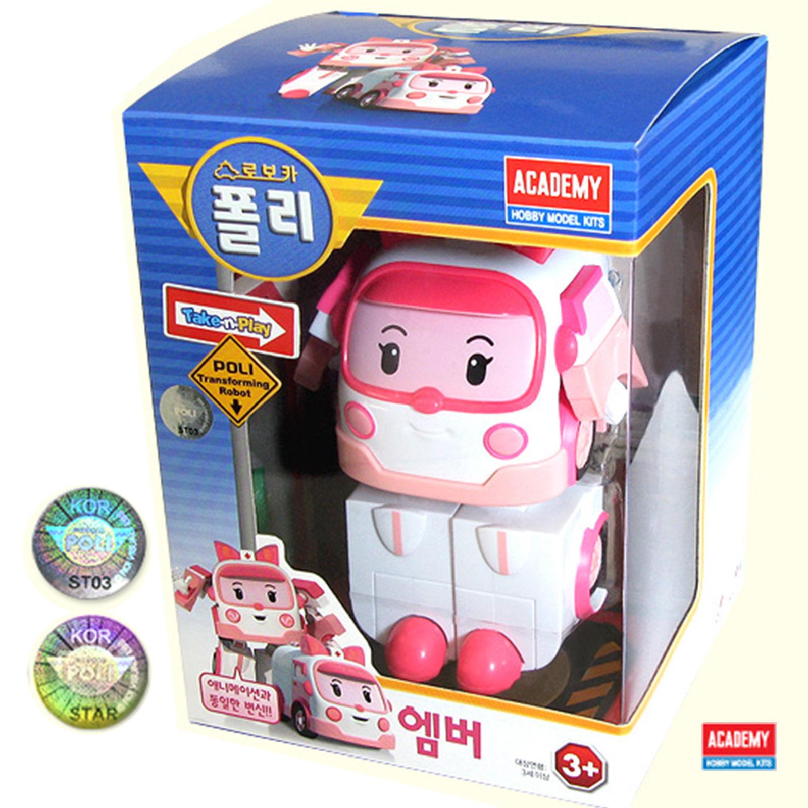 ROBOCoche Poli  ámbar transformar Robot De Juguete Serie Academy animación coreana