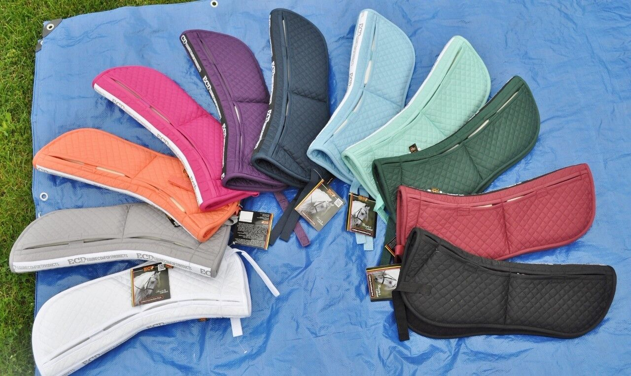 NWT ECP Cotton Correction Half Saddle Pad with Memory Foam  shims - burgundy  discounts and more
