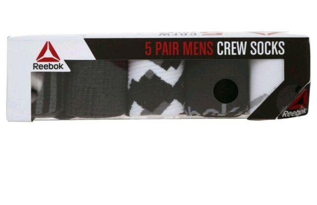Reebok Men/'s Classic Crew Socks Pack of 6 Size 6-12.5 Color Black