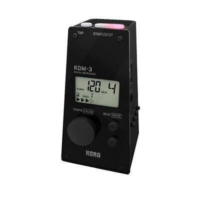 Korg KDM-3 Digital Metronome Black Value Bundle DAddario Humidipak Maintain Replacement 3-Pack