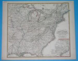 1874-ORIGINAL-MAP-UNITED-STATES-TEXAS-VIRGINIA-NEW-YORK-ARKANSAS-ILLINOIS-IOWA