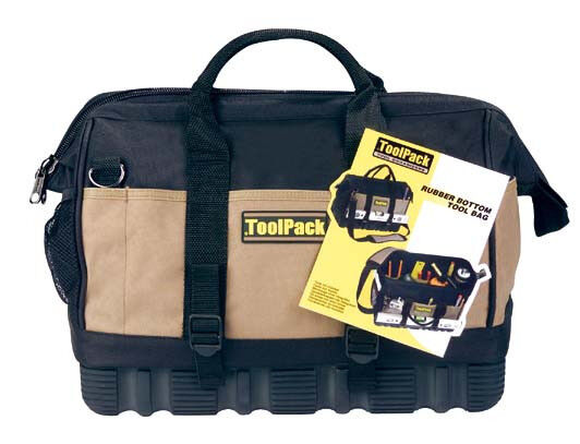 Professional tool bag with shoulder strap bag rubber floor tool pack 360032