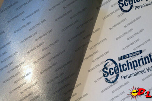 "3M Scotchprint Brushed Aluminum Wrap Film 30/""x96/"" 20sq ft."