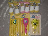 Baby Looney Tunes Tweety Bird Booties Brush Comb Grooming Infant