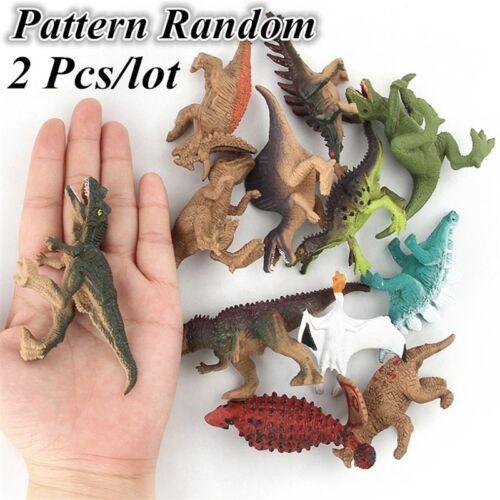 2Pcs Plastic Dinosaur Model Toys Action Figures Kids Children Toy Gift Small