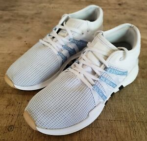 new style 3ea99 f7c38 Details about Adidas Women's EQT Racing ADV Shoes NEW AUTHENTIC  White/Blue/Black ART CQ2155