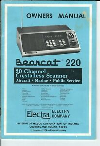 Bearcat BCD996T CD OWNER/'S MANUAL Radio Scanner CD ONLY