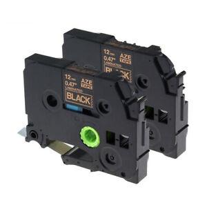 2-PK-TZ-334-TZe-334-Compatible-Label-Maker-Tape-12mm-for-Brother-P-Touch-PT-D210