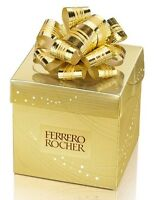 Ferrero Rocher Fine Hazelnut Chocolate Candy Wrapped Gift