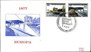 1977-Belgien-Belgie-Belgiique-Europa-FDC-First-Day-Dover-Sonderstempel-Bruessel
