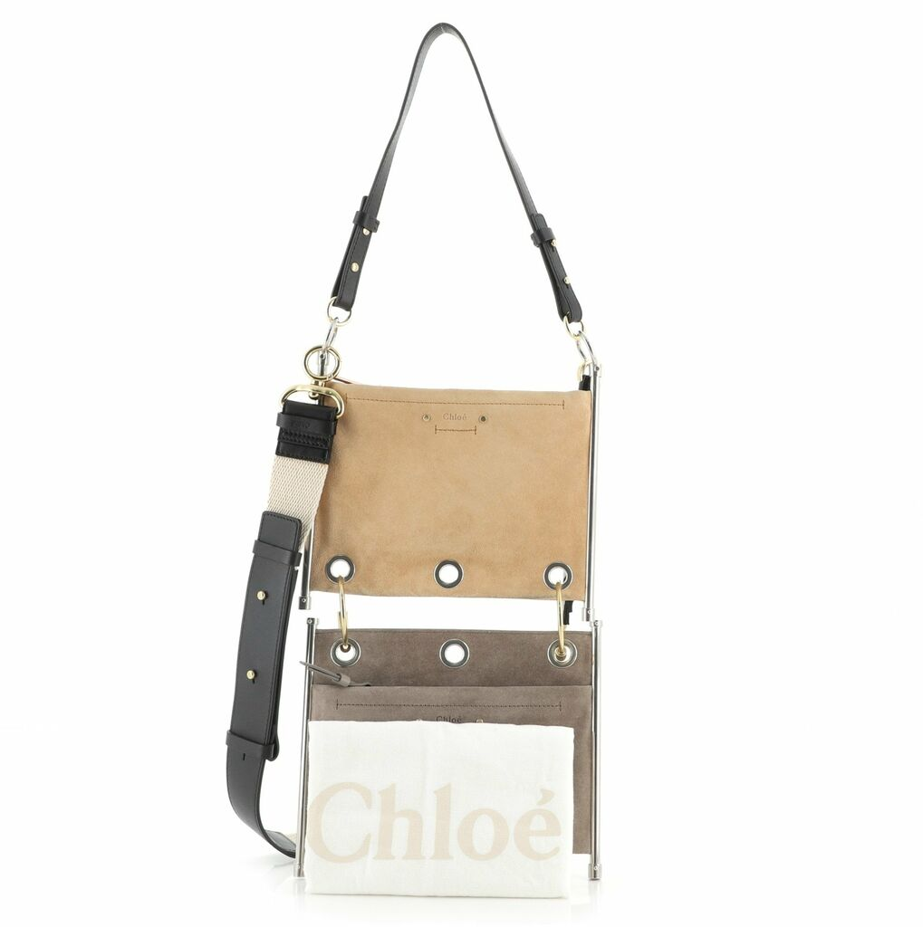 Chloe Roy Double Clutch Suede and Leather    eBay