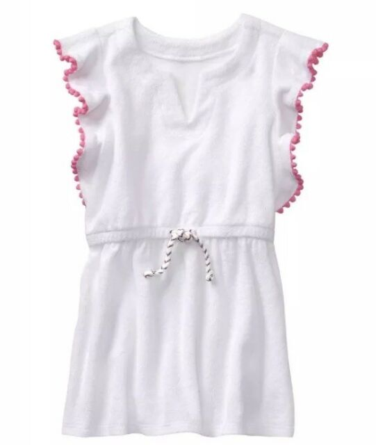 09a613183bcce Gymboree Pom Pom Swimsuit Cover Up Size 3T Girls NEW NWT Beach White ...