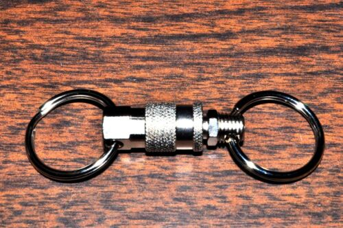 Key Chain Ring quick Release coupler secure pull apart Key Holder Amflo 900D 900