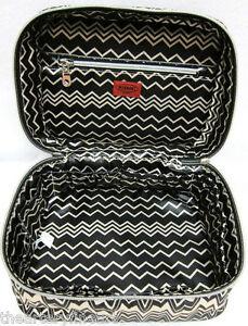 MISSONI x Target  Famiglia (Black   White Zig Zag)  Train Case Make ... 6b5a85a400fd6
