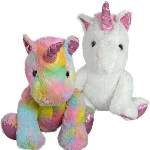 "Unicorn Plush 15/"" inches Plush New with Tags Sitting Choose Your Colors"