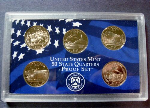 """2006-S FIVE COIN PROOF STATE QUARTER SET IN SEALED HOLDER *NO BOX OR C.O.A./"""" A-2"""