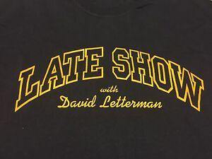 Late Show David Letterman T-Shirt Talk Show TV NBC CBS New