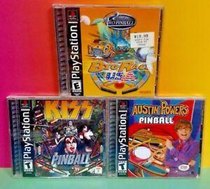 3 Pinball Games: Austin Powers, Pro Big Race, Kiss - Playstation 1 2 PS1 PS2 Lot