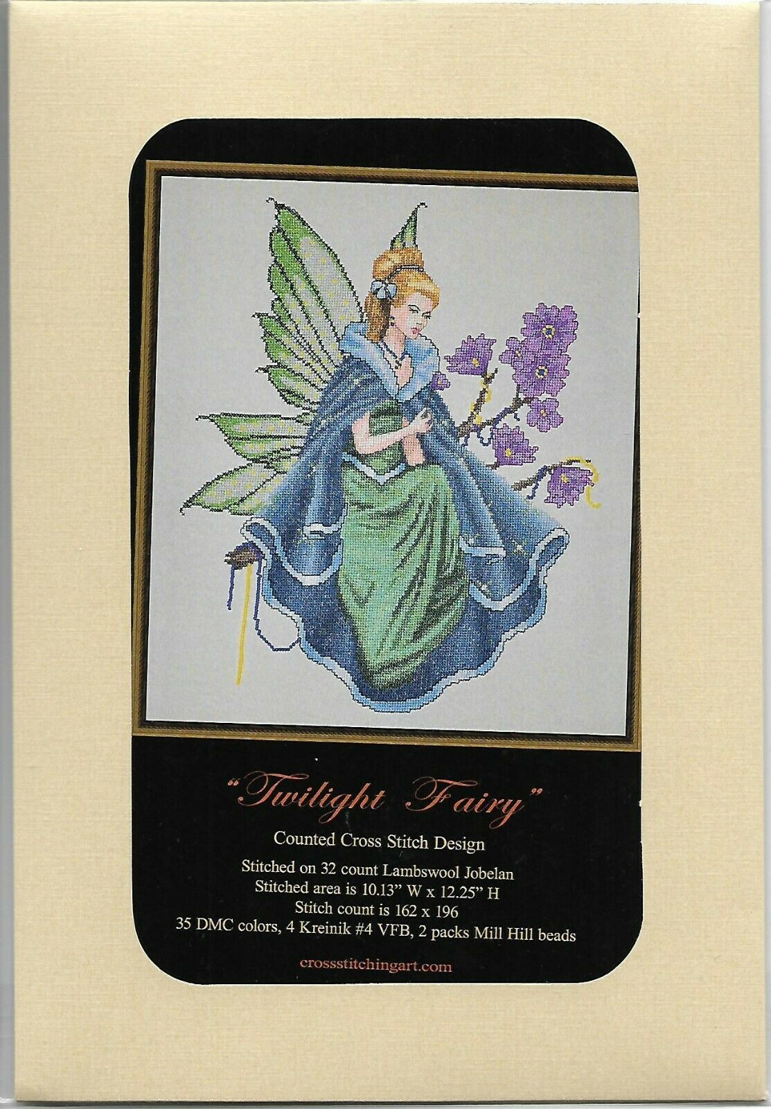 """MD169 /""""PRINCESS ELLIANA/""""  CHART /& COMPLETE MATERIALS with Linen or Aida"""