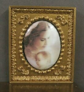 """FIRED PORCELAIN PICTURE ~ /"""" Angel /"""" ~ Dollhouse Miniature ~ 1:12 scale ~ Artist"""