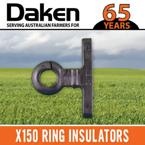 x150 RING INSULATOR  TIMBER WOOD POST NAIL SCREW ON ELECTRIC FENCE