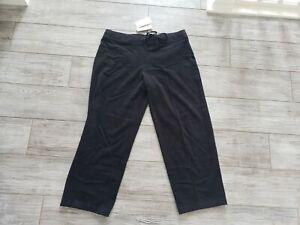 NEW-Eileen-Fisher-Organic-Sueded-Cotton-Drawstring-Pant-Black-Size-XL-XLRG-NWT