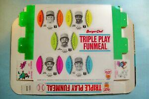 Vintage 1977 Burger Chef Pittsburgh Pirates Triple Play Funmeal Box  NM/M Cond.
