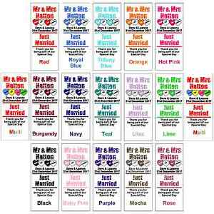 Personalised-Mini-Love-Heart-Sweets-Wedding-Favours-WRAPPERS-ONLY-Colour-Choices