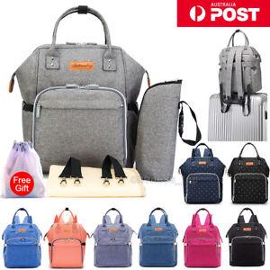 Waterproof-Large-Mummy-Nappy-Diaper-Bag-Baby-Travel-Changing-Nursing-Backpack-AU